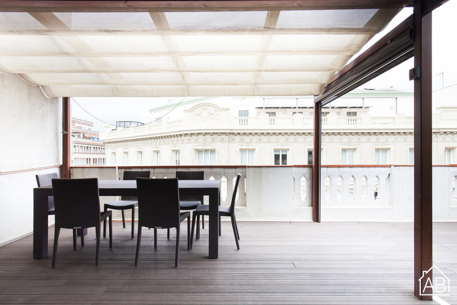 AB Passeig de Gràcia Penthouse 4-1 - barceloneta区现代的,带露台的一室公寓 - AB Apartment Barcelona