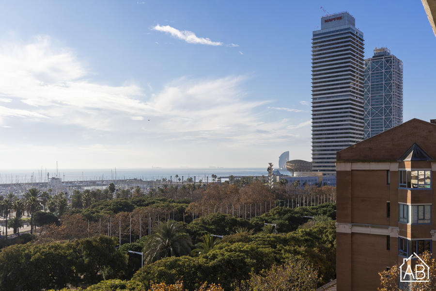 AB Olympic Village III Penthouse - Stylish 2-Bedroom Vila Olímpica Penthouse with a Large Balcony and Sea Views - AB Apartment Barcelona