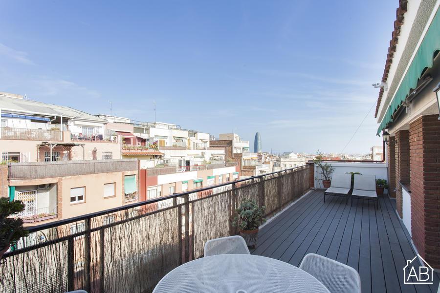 AB Sagrada Família Castillejo - Precioso ático de 2 dormitorios con terraza privada cerca de La Sagrada Familia - AB Apartment Barcelona