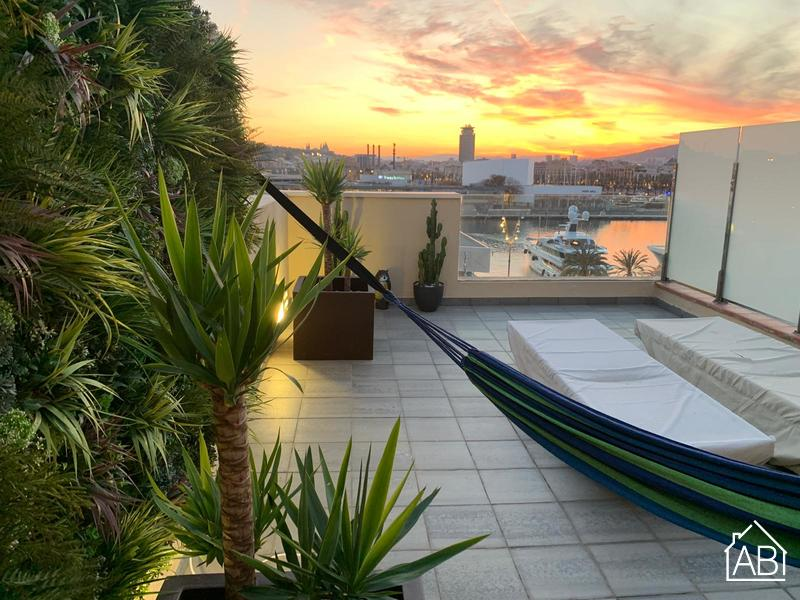AB Barceloneta Borbó - Attic Port View I - Geweldig appartement met privé terras en uitzicht op de haven - AB Apartment Barcelona