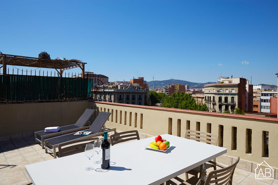 AB Paral·lel Apartment A - Penthouse Contemporain avec Terrasse Privée  - AB Apartment Barcelona