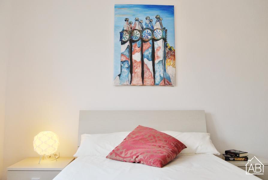 AB Rambla Catalunya White - Стильная квартира для двоих на Рамбле Каталуния - AB Apartment Barcelona