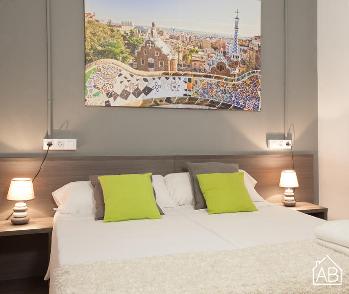 AB Marina Apartment 1-3 - Elegant 3-Bedroom Apartment with a Communal Terrace near the Sagrada Família - AB Apartment Barcelona