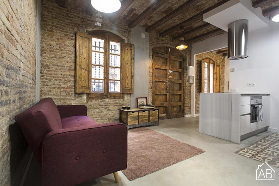 Piso Bajos a Reformar en Barceloneta - Chic and Rustic One Bedroom Apartment in Heart of Barceloneta Neighbourhood - AB Apartment Barcelona