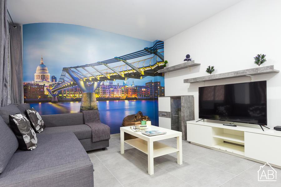 AB PARAL.LEL PORT 6-5B - Apartamento de 3 habitaciones en Paral·lel cerca del mar - AB Apartment Barcelona