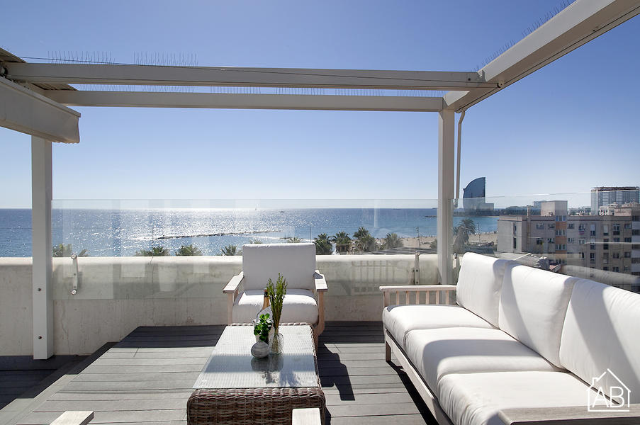 AB Attic Suite Sea Views with Terrace - Mooie zolder-suite voor 4 personen in Barceloneta met een eigen terras - AB Apartment Barcelona