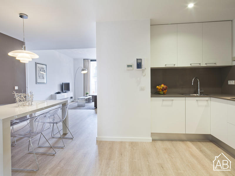 AB Girona Apartment 31 - Moderno Appartamento per 7 ospiti in Eixample con Balcone - AB Apartment Barcelona