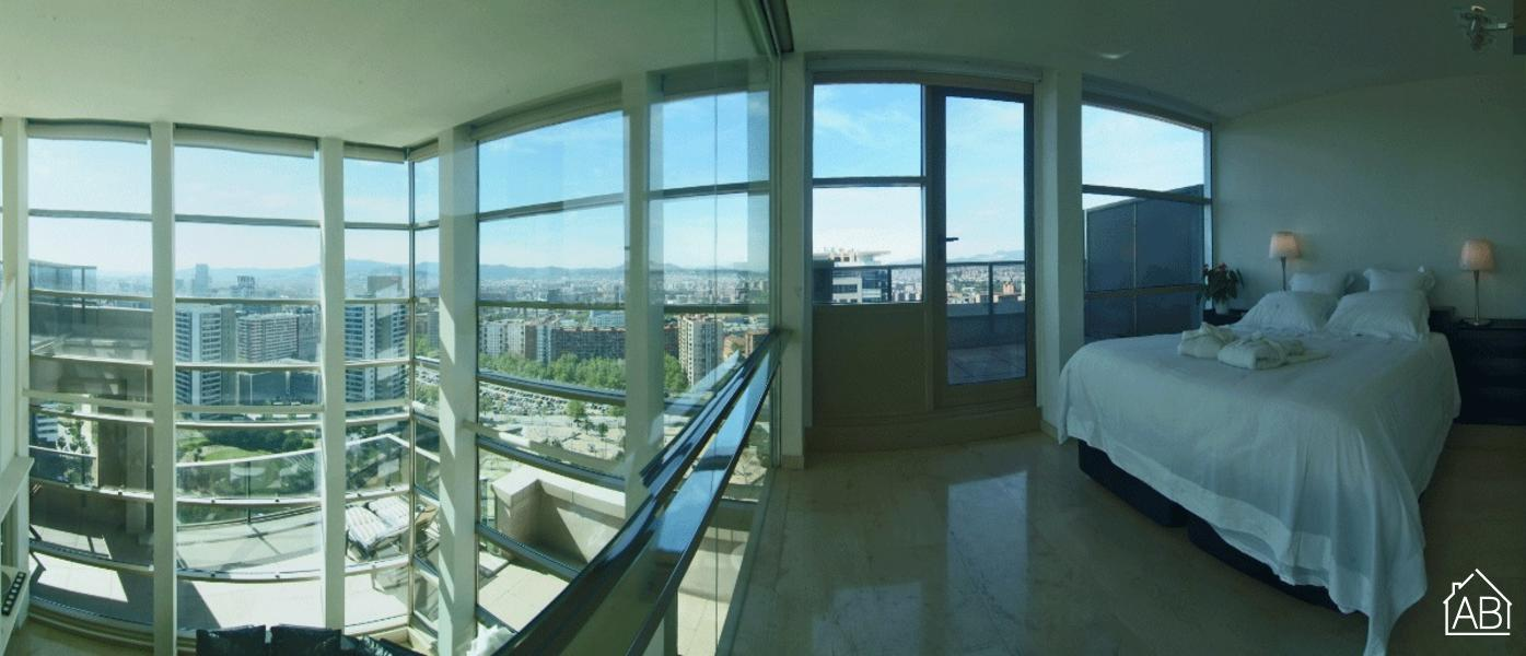 AB Penthouse Views Apartment - Attico di Lusso con 4 Camere con Incredibile Vista Mare - AB Apartment Barcelona