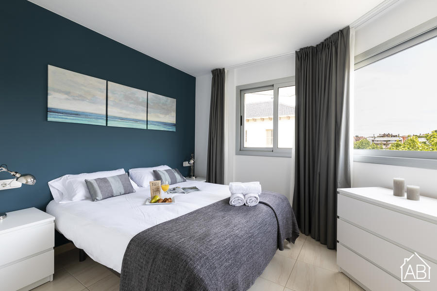 AB Blue Sarria - Trendy and Charming One-Bedroom Apartment with Terrace in Sarrià-Sant Gervasi - AB Apartment Barcelona
