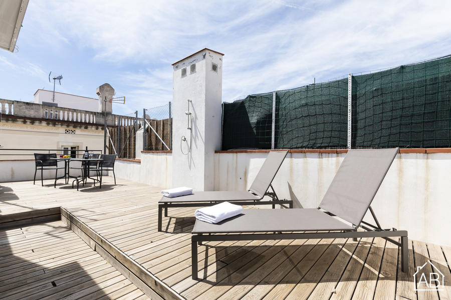 AB Centric with Terrace -  Appartement 1 chambre confortable et contemporain avec terrasse privée dans le quartier El Raval - AB Apartment Barcelona