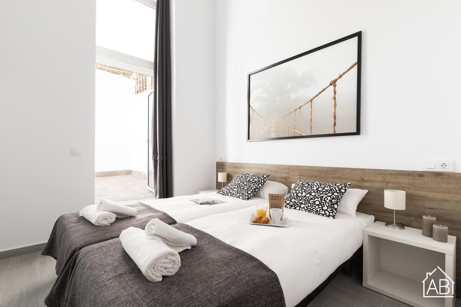 AB Vila i Vila - Contemporary One Bedroom Apartment with Private Terrace in Poble Sec Neighbourhood - AB Apartment Barcelona
