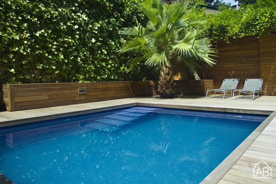 AB Luxury Palace - Роскошная двухкомнатная квартира с прекрасной террасой и бассейном в Sarrià - AB Apartment Barcelona
