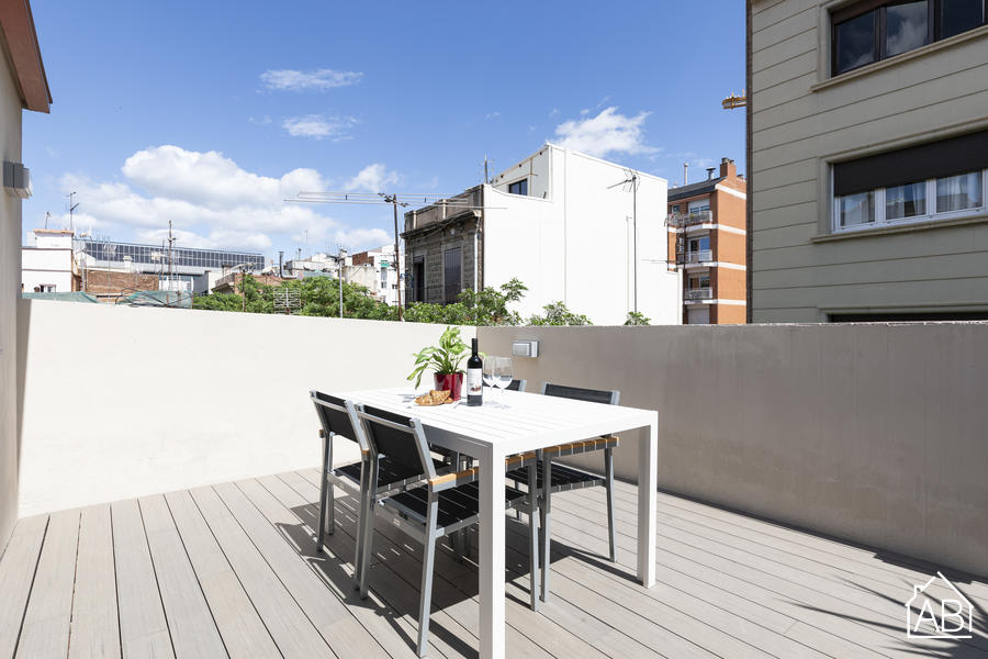 AB EIXAMPLE BATLLO PENTHOUSE - Modern 1-bedroom Penthouse in Eixample with private terrace - AB Apartment Barcelona