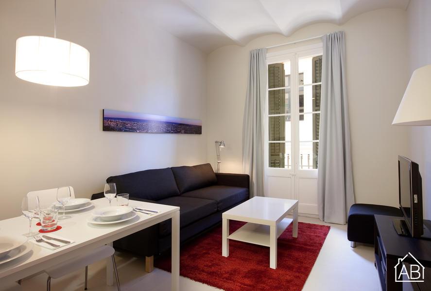 AB Venero - Stiloso appartametno con due camere e balcone a Poble Nou - AB Apartment Barcelona