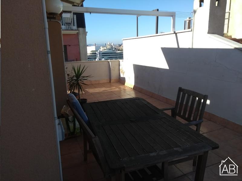 AB Barceloneta Attic Studio Mar - 巴塞罗那塔海滩一体化公寓(私人露台通往海滩) - AB Apartment Barcelona