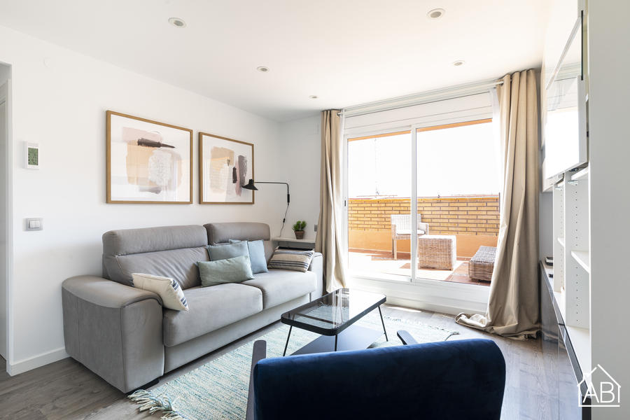 AB Barcelona Views - Modern & Bright Two-Bedroom Apartment with Private Terrace - AB Apartment Barcelona