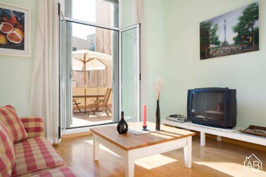 AB Ramblas 15 - Bright apartment with a terrace on Las Ramblas - AB Apartment Barcelona