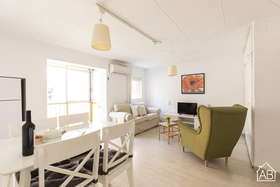 AB Nou Barris - Stylish Two-Bedroom Apartment in Nou Barris - AB Apartment Barcelona